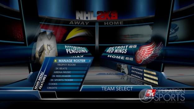 NHL 2K9 Screenshot #106 for Xbox 360