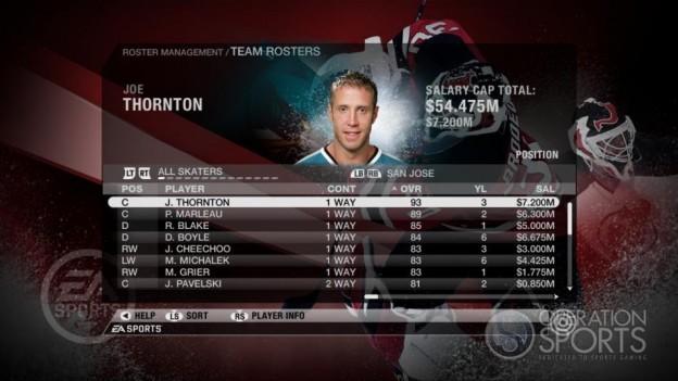 NHL 09 Screenshot #50 for Xbox 360