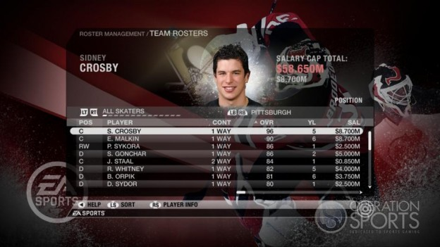 NHL 09 Screenshot #52 for Xbox 360