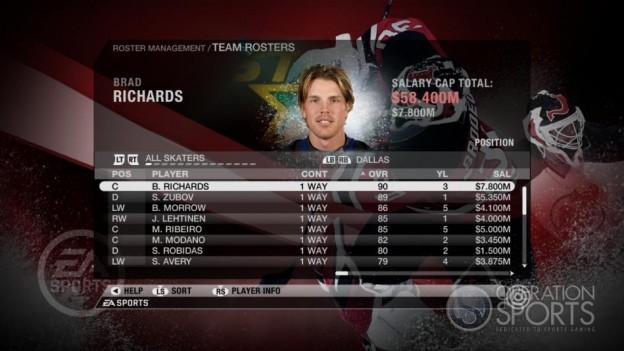 NHL 09 Screenshot #66 for Xbox 360