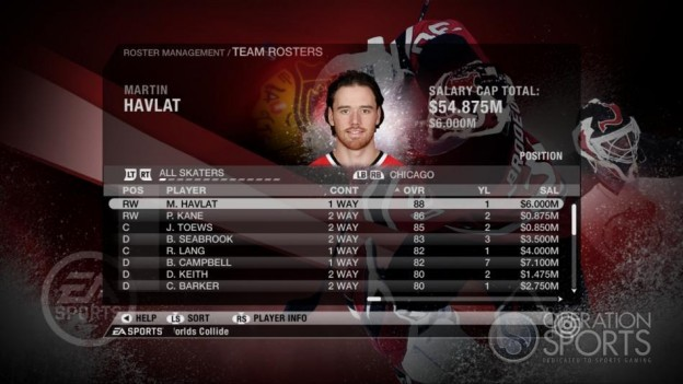 NHL 09 Screenshot #69 for Xbox 360