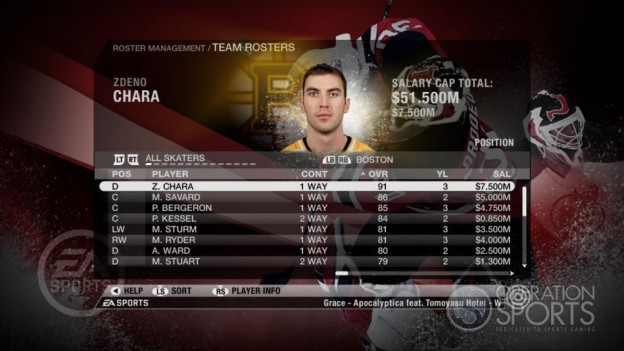 NHL 09 Screenshot #73 for Xbox 360