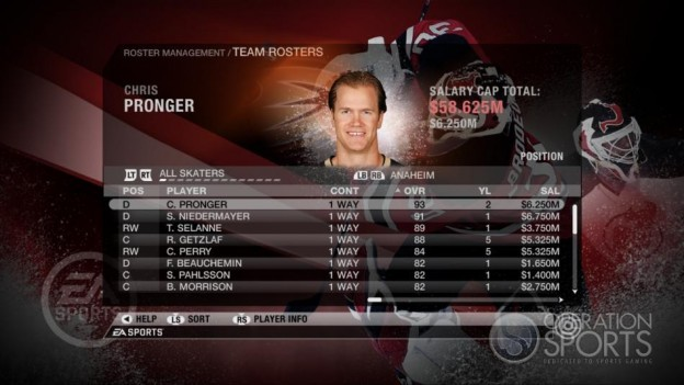 NHL 09 Screenshot #75 for Xbox 360
