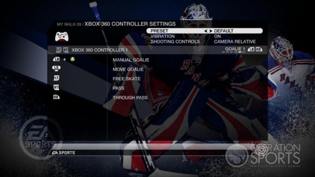 NHL 09 Screenshot #77 for Xbox 360