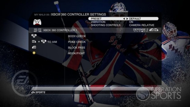 NHL 09 Screenshot #78 for Xbox 360
