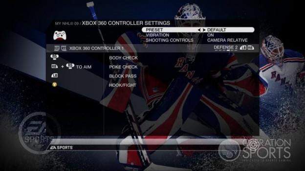 NHL 09 Screenshot #78 for Xbox 360
