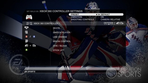 NHL 09 Screenshot #79 for Xbox 360
