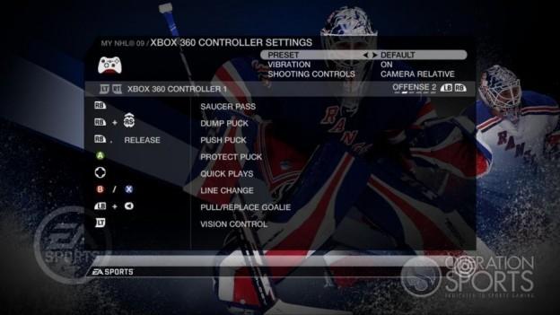 NHL 09 Screenshot #80 for Xbox 360