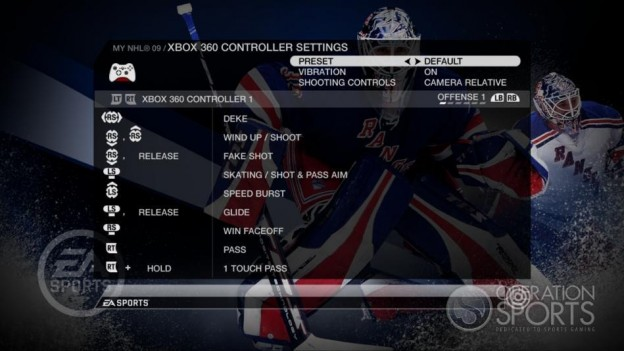 NHL 09 Screenshot #81 for Xbox 360