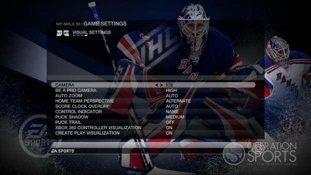 NHL 09 Screenshot #82 for Xbox 360