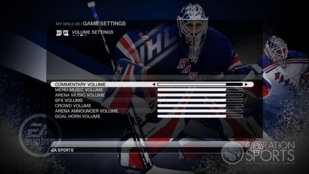 NHL 09 Screenshot #83 for Xbox 360