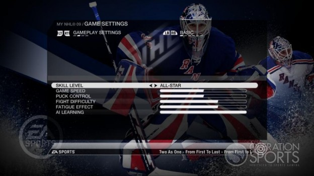 NHL 09 Screenshot #89 for Xbox 360
