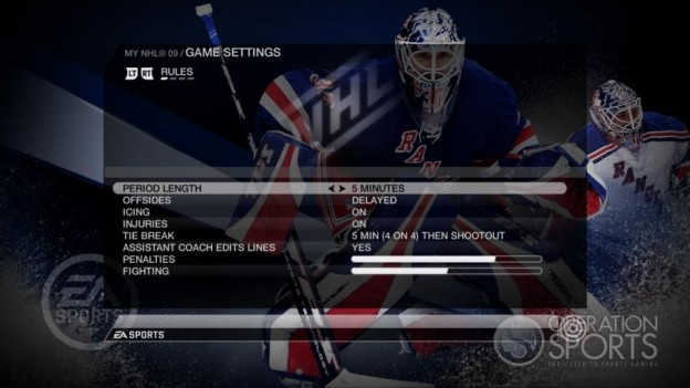 NHL 09 Screenshot #90 for Xbox 360