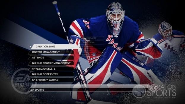 NHL 09 Screenshot #95 for Xbox 360