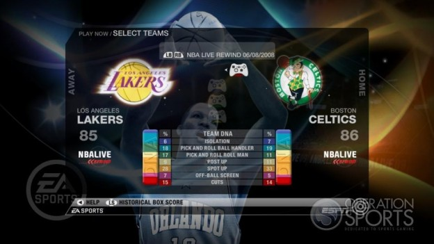 NBA Live 09 Screenshot #78 for Xbox 360