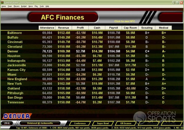 Football Mogul 2009 Screenshot #10 for PC