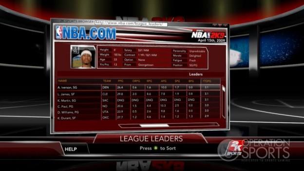 NBA 2K9 Screenshot #150 for Xbox 360
