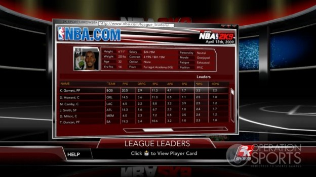 NBA 2K9 Screenshot #151 for Xbox 360