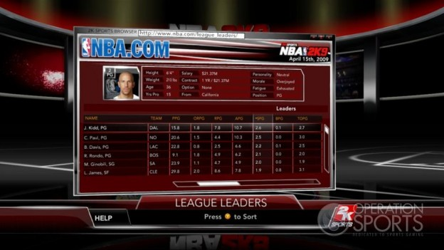 NBA 2K9 Screenshot #152 for Xbox 360