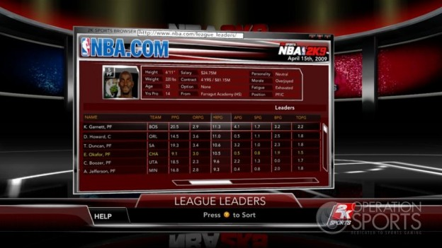 NBA 2K9 Screenshot #154 for Xbox 360