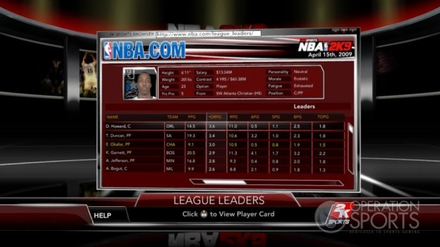 NBA 2K9 Screenshot #155 for Xbox 360