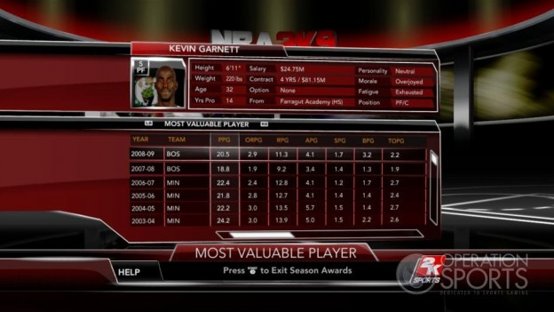 NBA 2K9 Screenshot #167 for Xbox 360