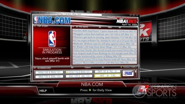NBA 2K9 Screenshot #169 for Xbox 360