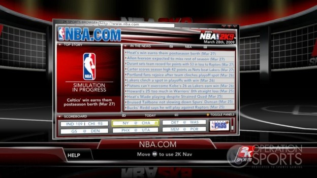 NBA 2K9 Screenshot #170 for Xbox 360