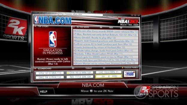 NBA 2K9 Screenshot #171 for Xbox 360