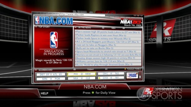 NBA 2K9 Screenshot #172 for Xbox 360