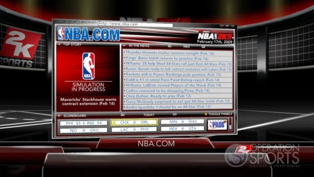 NBA 2K9 Screenshot #174 for Xbox 360