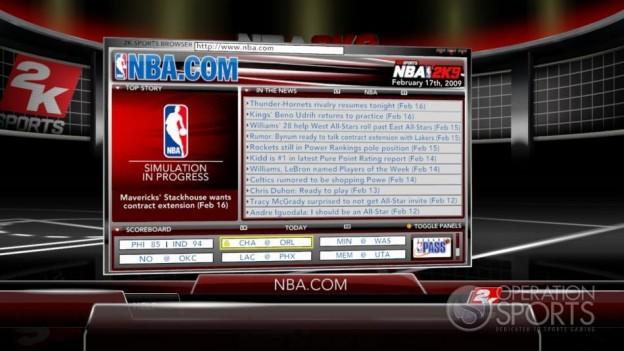 NBA 2K9 Screenshot #174 for Xbox 360