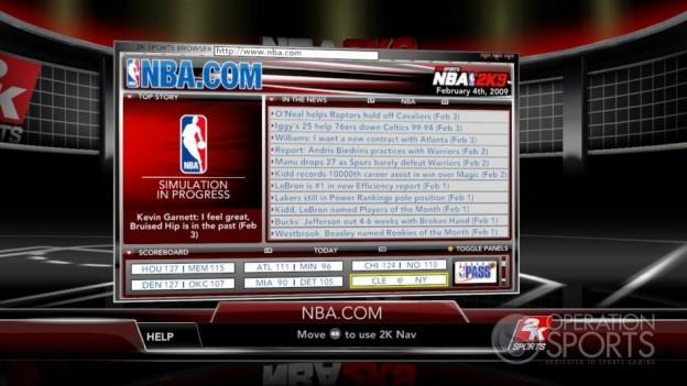 NBA 2K9 Screenshot #175 for Xbox 360
