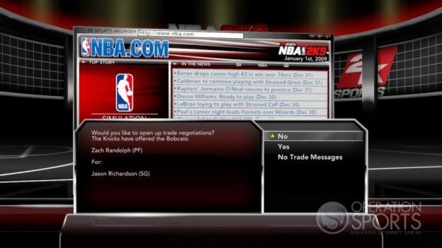 NBA 2K9 Screenshot #179 for Xbox 360
