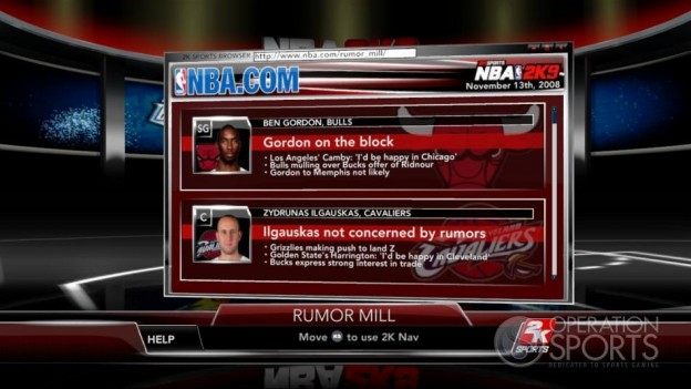 NBA 2K9 Screenshot #188 for Xbox 360