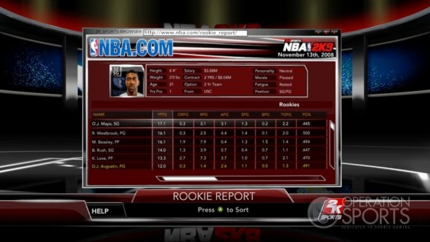 NBA 2K9 Screenshot #189 for Xbox 360