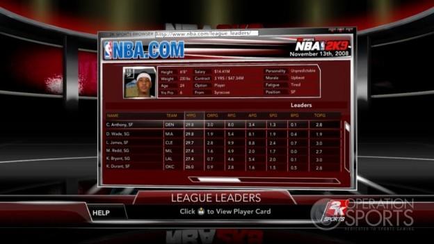 NBA 2K9 Screenshot #192 for Xbox 360
