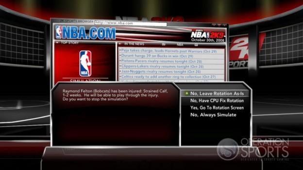 NBA 2K9 Screenshot #201 for Xbox 360