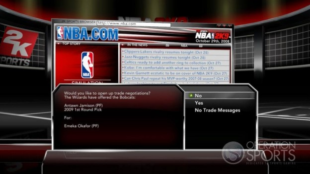 NBA 2K9 Screenshot #203 for Xbox 360
