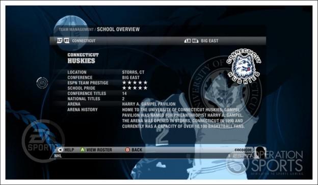 NCAA Basketball 09 Screenshot #19 for Xbox 360