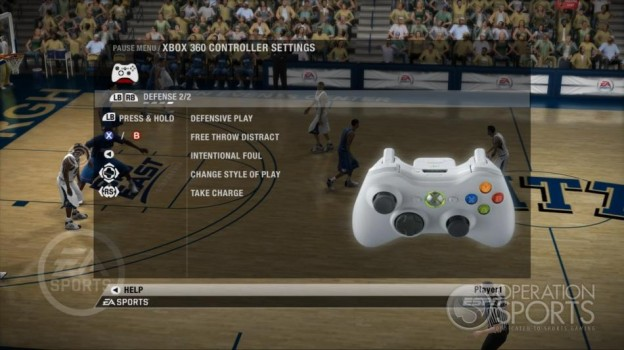 NCAA Basketball 09 Screenshot #36 for Xbox 360