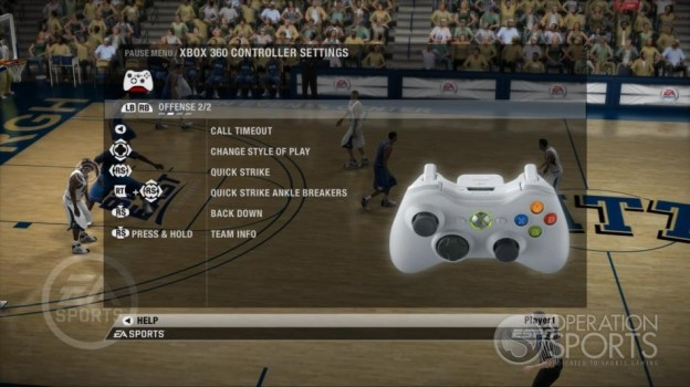NCAA Basketball 09 Screenshot #38 for Xbox 360