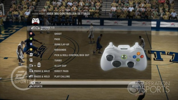 NCAA Basketball 09 Screenshot #39 for Xbox 360