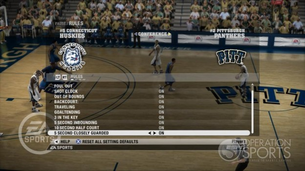 NCAA Basketball 09 Screenshot #40 for Xbox 360