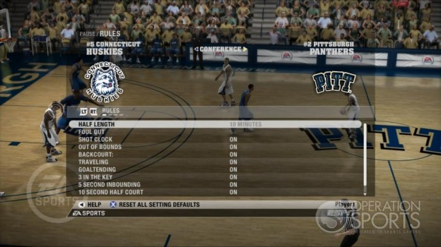 NCAA Basketball 09 Screenshot #41 for Xbox 360