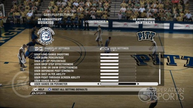 NCAA Basketball 09 Screenshot #44 for Xbox 360