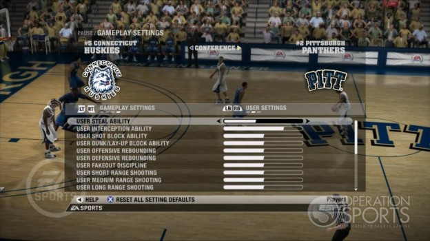 NCAA Basketball 09 Screenshot #45 for Xbox 360