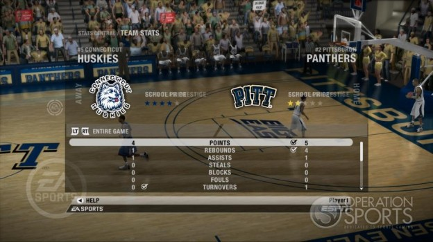 NCAA Basketball 09 Screenshot #55 for Xbox 360