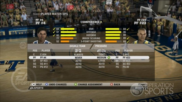 NCAA Basketball 09 Screenshot #59 for Xbox 360