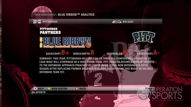 NCAA Basketball 09 Screenshot #66 for Xbox 360